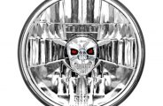 "IPCW® - 5.75"" Chrome Euro Conversion Headlight with Skull"