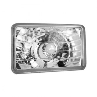 "IPCW® - 4x6"" Rectangular Chrome Euro Headlight"
