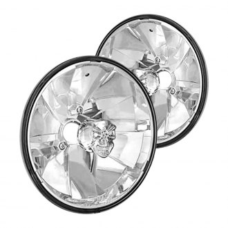 "IPCW® - 7"" Round Chrome Diamond Cut Euro Headlights"