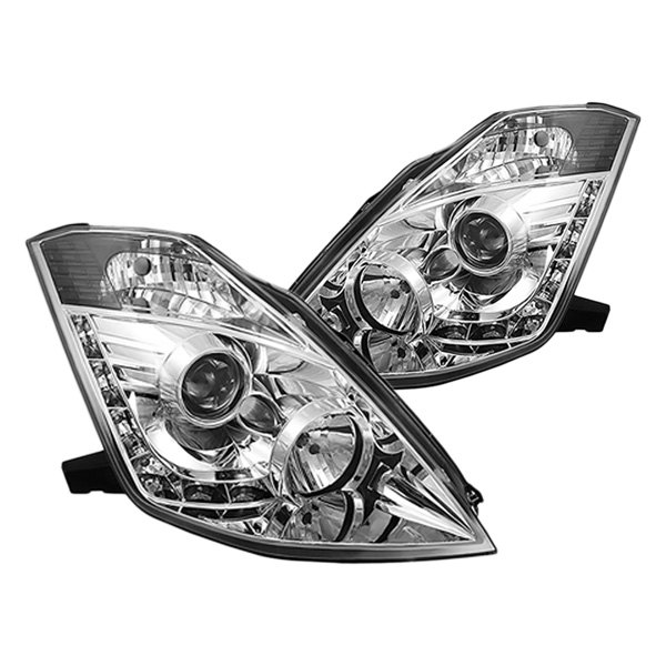 IPCW® - Chrome Projector LED Headlights with DRL