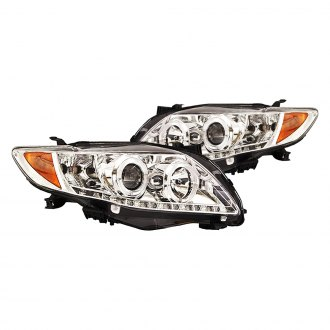 IPCW® - Chrome Halo Projector LED Headlights with DRL