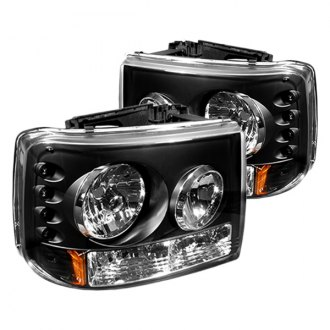 IPCW® - Black LED Euro Headlights with Bumper Lights
