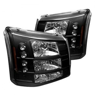 IPCW® - Black Euro Headlights with LEDs and Bumper Lights