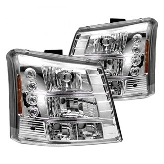 IPCW® - Chrome Euro Headlights with LEDs and Bumper Lights
