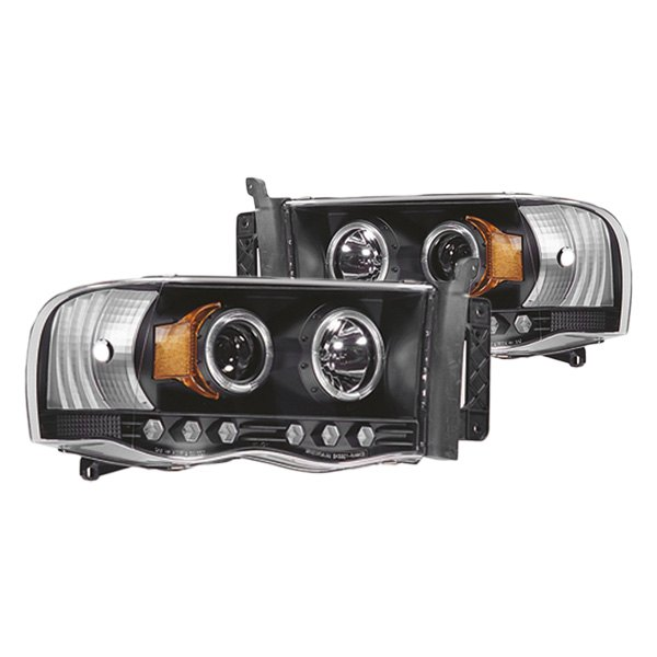 ipcw dodge ram 1500 2500 2004 black halo projector. Black Bedroom Furniture Sets. Home Design Ideas