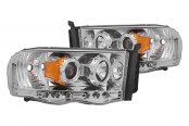 IPCW® - Chrome Halo Projector Headlights with LEDs - 1500