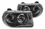 IPCW® - Black Halo Projector Headlights with LEDs - TYPE A