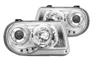 IPCW® - Chrome Halo Projector Headlights with LEDs - TYPE A