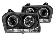 IPCW® - Black Halo Projector Headlights with LEDs - TYPE B