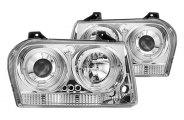 IPCW® - Chrome Halo Projector Headlights with LEDs - TYPE B