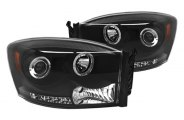 IPCW® - Black Halo Projector Headlights with LEDs