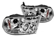 IPCW® - Chrome Euro Halo Projector Headlights with LEDs