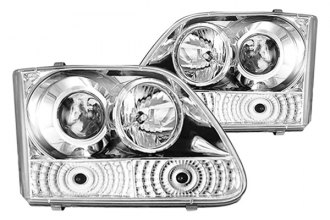 IPCW® - Chrome Projector Headlights with Rings