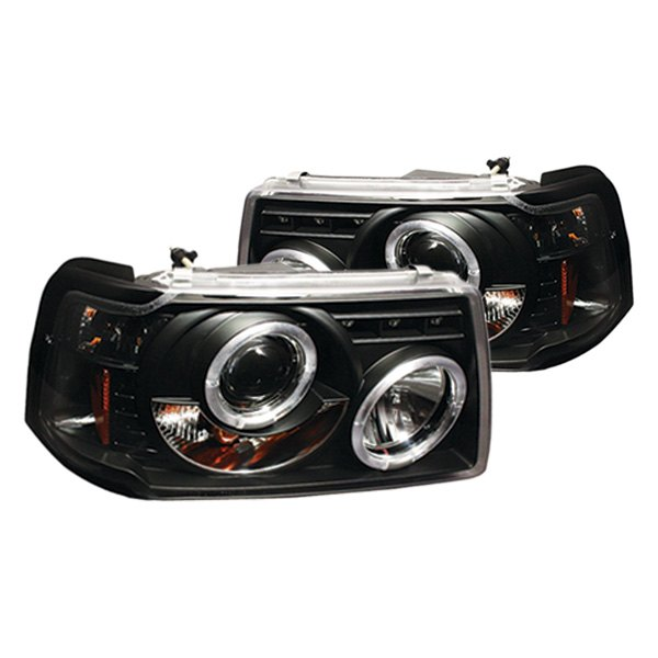 Ford Ranger Headlights : Ipcw ford ranger black halo projector led headlights
