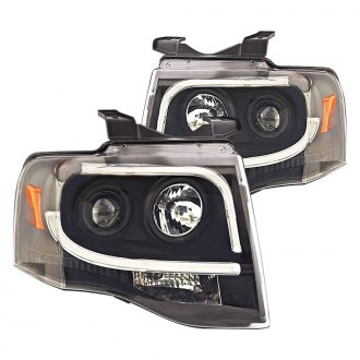 IPCW® - Black U-Bar Halo Projector LED Headlights