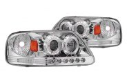 IPCW® - Chrome Halo Projector Headlights with LEDs with LEDs