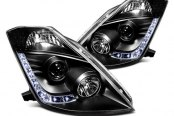 IPCW® - Black Projector Headlights with LEDs with LEDs