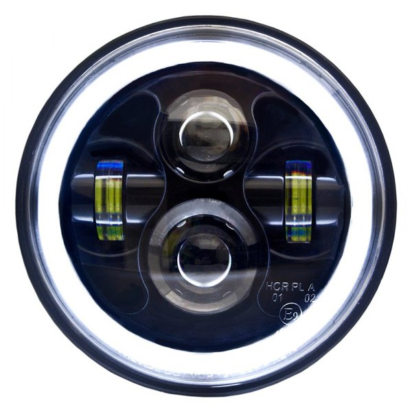 "IPCW® - 7"" Round Black Halo Projector LED Headlight"