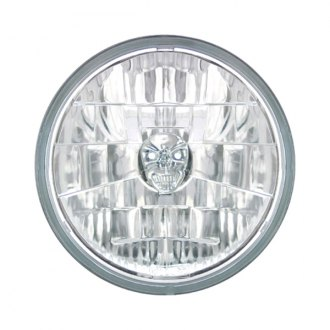"IPCW® - 7"" Round Chrome Diamond Cut Euro Headlight"
