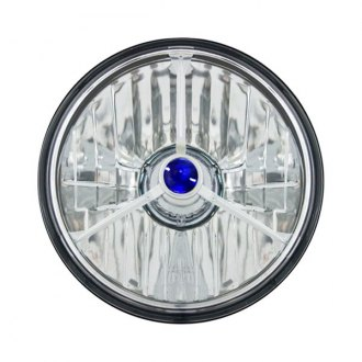 "IPCW® - 5 3/4"" Round Chrome Tri-Bar Euro Headlight"