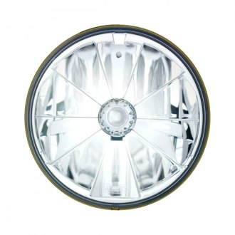 "IPCW® - 7"" Round Chrome Pie Cut Euro Headlight"