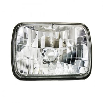 "IPCW® - 7x6"" Rectangular Chrome Diamond Cut Euro Headlight"