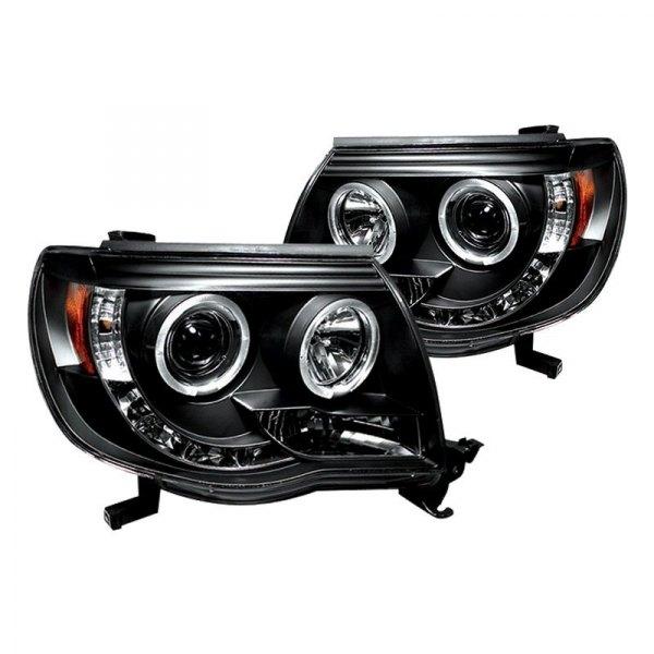 Toyota Tacoma Headlights: Toyota Tacoma 2010 Black Halo Projector LED Headlights