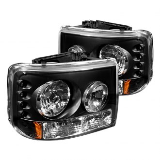 IPCW® - Black Conversion LED Euro Headlights with Bumper Lights