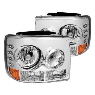 IPCW® - Chrome Conversion LED Euro Headlights with Bumper Lights