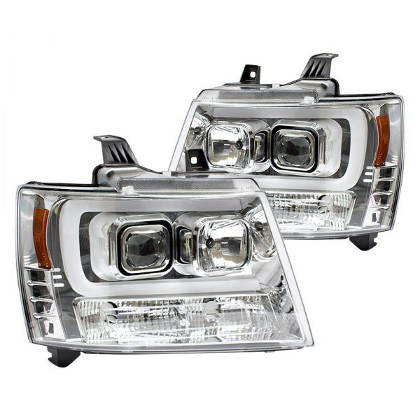 IPCW® - Chrome LED DRL Bar Projector Headlights