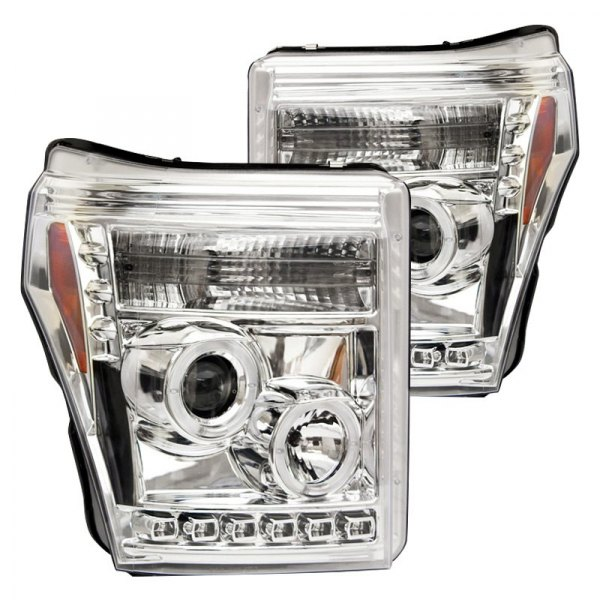 IPCW® - Chrome Halo Projector Headlights with Parking LEDs