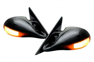 IPCW® - M3 Style Black Side Mirrors with LED Side Marker Lights