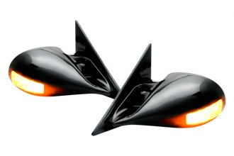 IPCW® CML-S10 - M3 Style Black Side Mirrors with LED Side Marker Lights