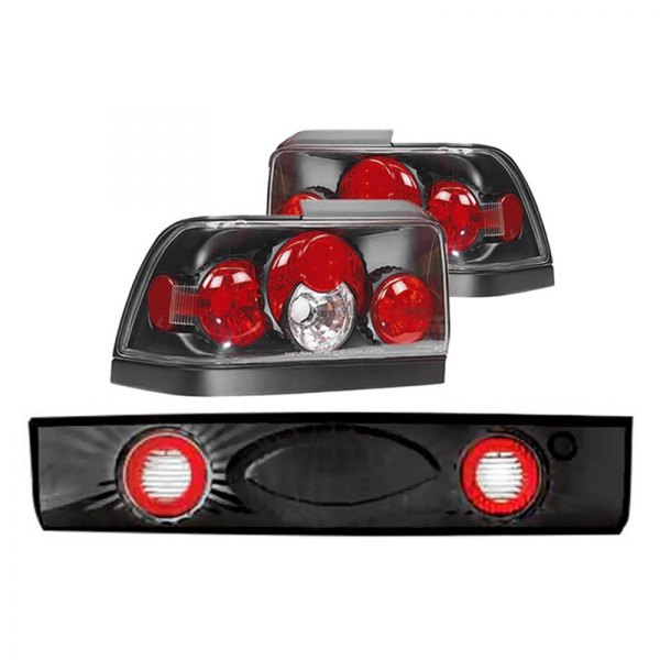 IPCW® - Black/Red Euro Tail and Trunk Lights
