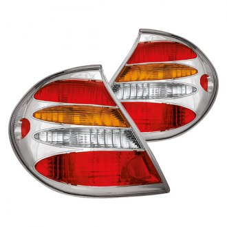 IPCW® - Chrome Amber/Red Euro Tail Lights with Amber Turn Signal Lights