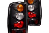 IPCW® - Black Amber/Red Euro Tail Lights with Amber Turn Signal Lights