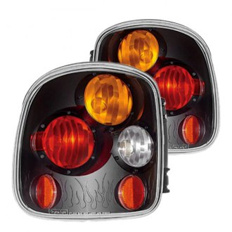IPCW® - Bermuda Black Euro Tail Lights with Amber Turn Signal Lights