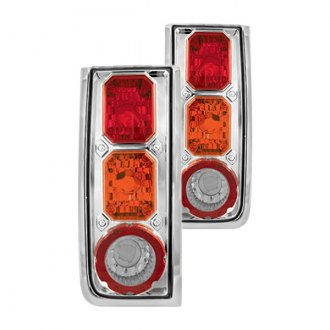 IPCW® - Chrome Euro Tail Lights with Amber Turn Signal Lights