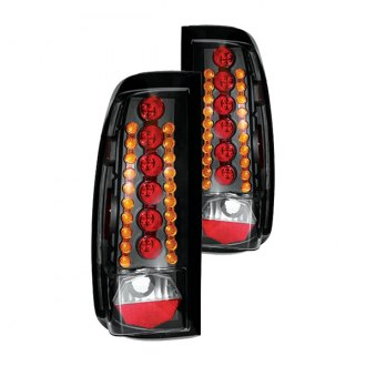 IPCW® - Bermuda Black LED Tail Lights with Amber Turn Signal Lights