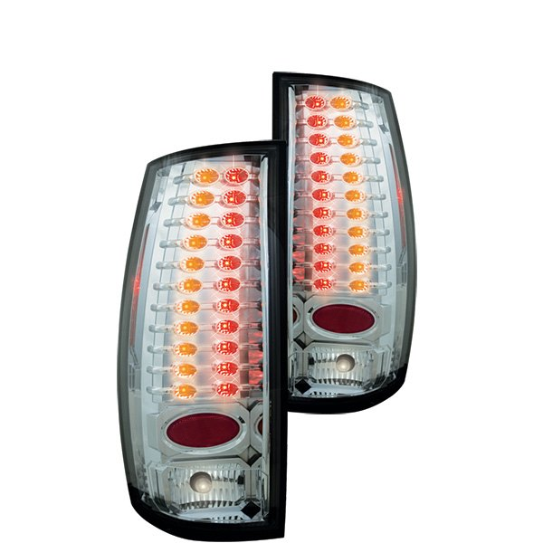IPCW® - Chrome LED Tail Lights with Amber Turn Signal Lights