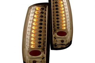 IPCW® - Platinum Smoke LED Tail Lights with Amber Turn Signal Lights