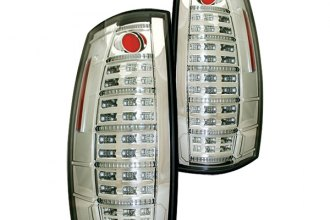 IPCW® LEDT-312C - Crystal Clear Fiber Optic LED Tail Lights with Reverse Lights