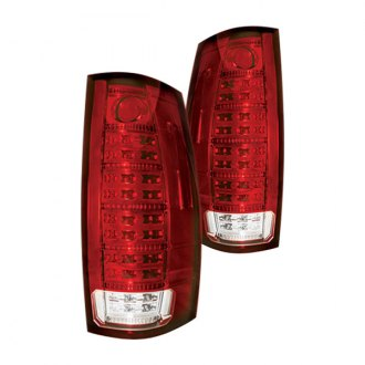 IPCW® - Chrome/Red Fiber Optic LED Tail Lights