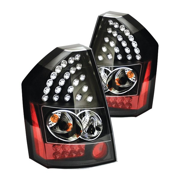 Chrysler 300 2006 Black Led Tail Lights: Chrysler 300C 2008 Bermuda Black/Red
