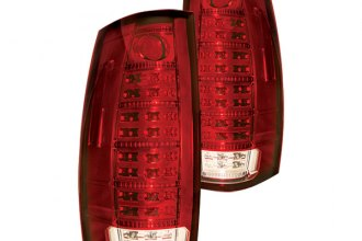 IPCW® LEDT-612CR - Ruby Red Fiber Optic LED Tail Lights with Reverse Lights