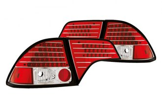 IPCW® - Ruby Red LED Tail Lights with Red Caps - 4DR