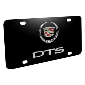 iPickimage® - Black License Plate with DTS Logo and Cadillac Emblem
