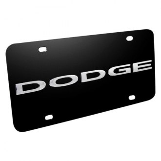 iPickimage® - License Plate with 3D Trucks Dodge Logo