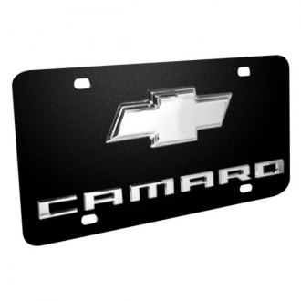 iPickimage® - License Plate with Camaro Logo and Chrome Chevrolet Emblem