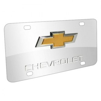 iPickimage® - License Plate with Chevrolet Logo and Gold New Emblem